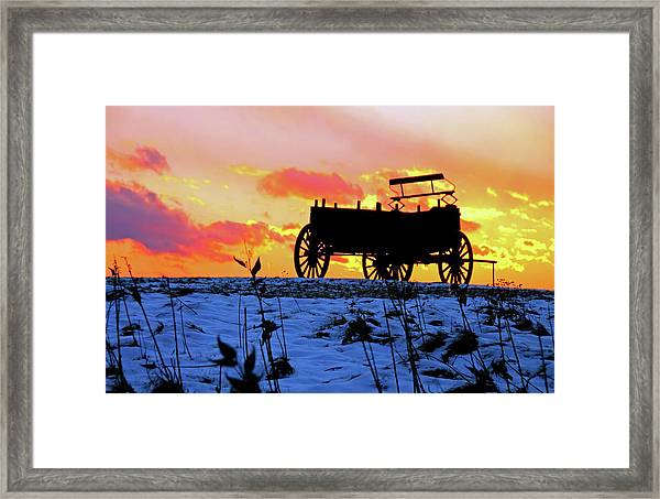 Wagon Hill At Sunset Framed Print