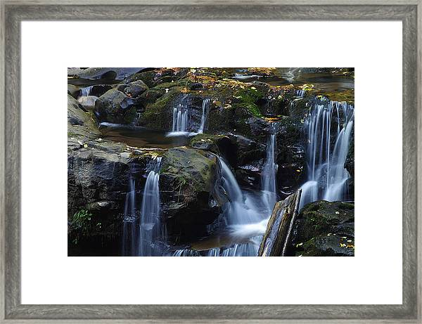 Wagon Road Falls Detail 1 Framed Print