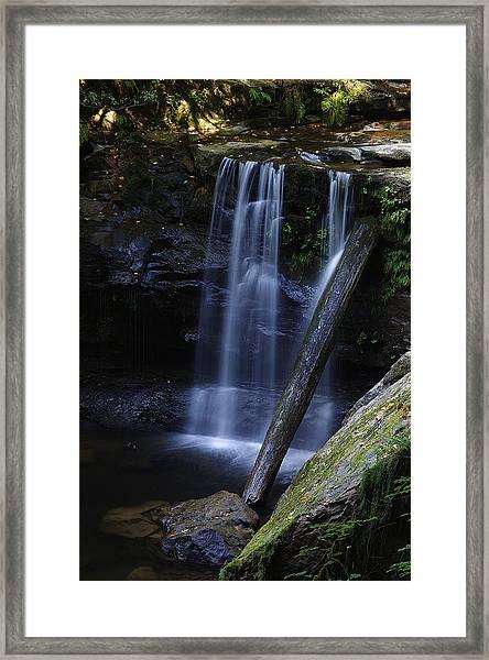 Wagon Road Falls Detail 2 Framed Print