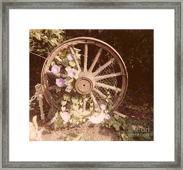 Wagon Wheel Memoir Framed Print