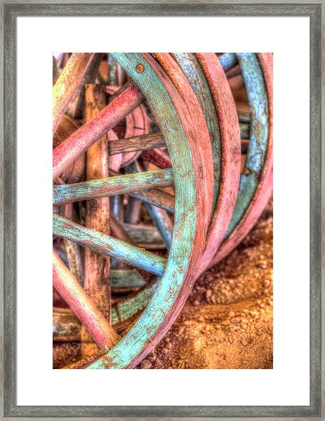 Wagon Wheels Framed Print