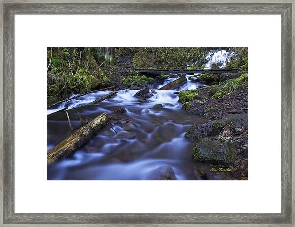 Wahkeena Creek Bridge # 5 Signed Framed Print