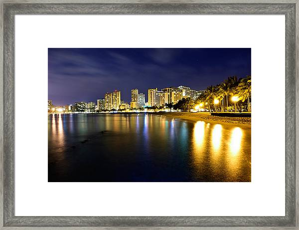 Waikiki After Midnight Framed Print