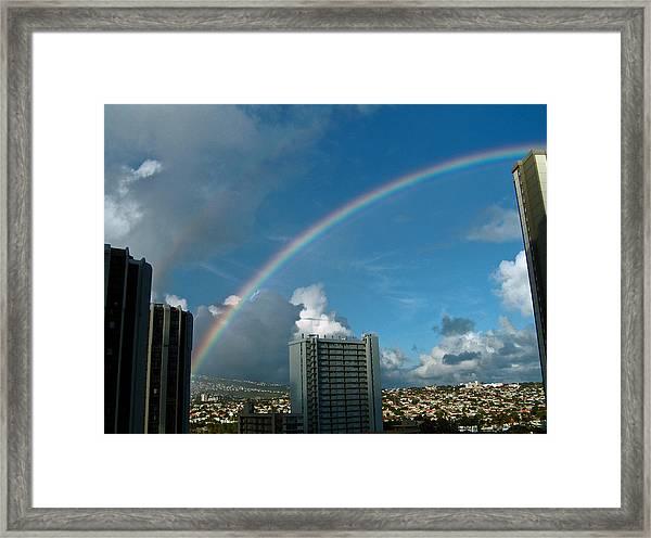Waikiki Rainbow Framed Print