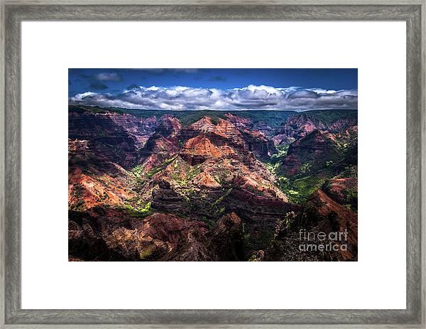 Waimea Canyon On Kauai Framed Print