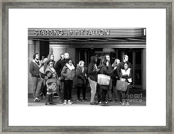 Waiting And Waiting Framed Print