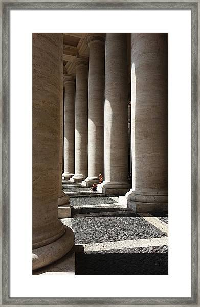 Waiting At St Peter's Framed Print