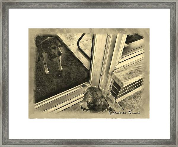 Waiting For Daddy Framed Print