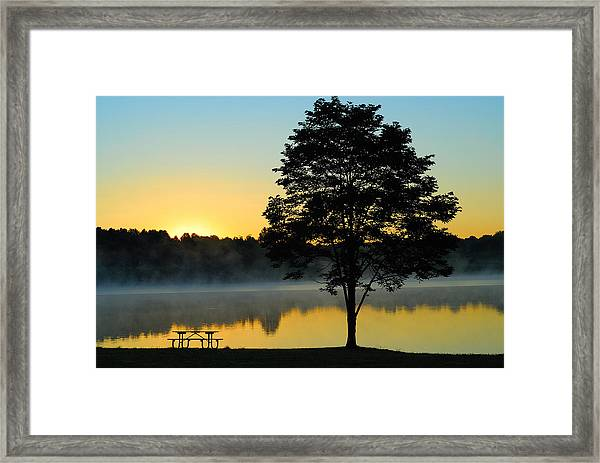 Waiting For Guests To Arrive Framed Print