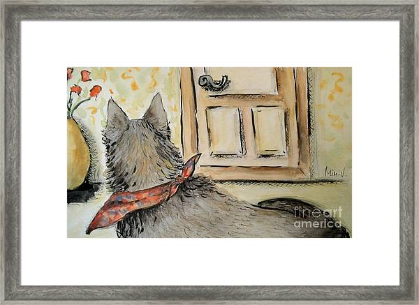 Waiting For The Humans Framed Print