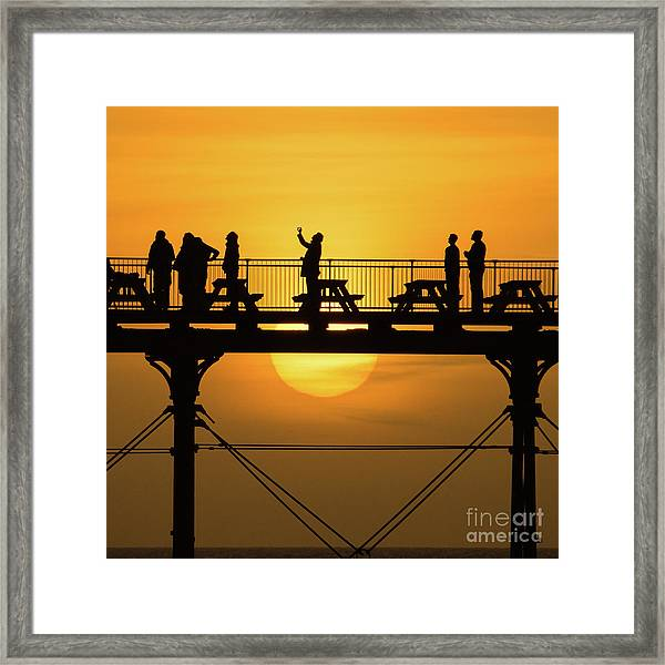 Waiting For The Sun Framed Print