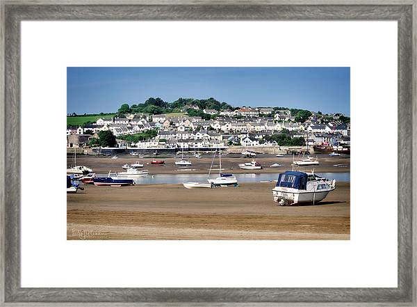 Waiting For The Tide Framed Print