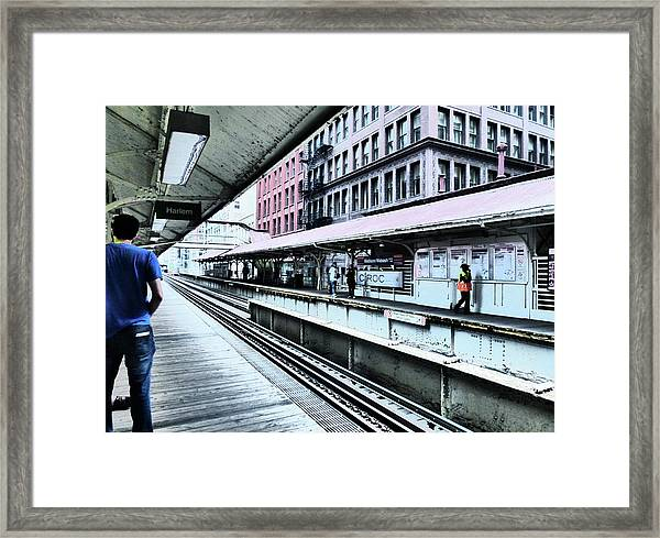 Waiting For The Train 4 Framed Print