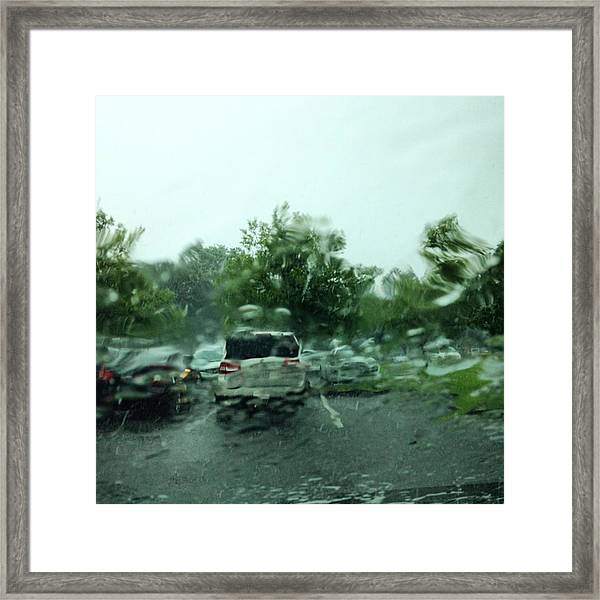 Waiting For The Wet Stuff To Pass!! Big Framed Print
