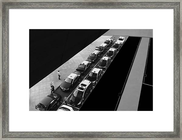 Waiting Lines Framed Print