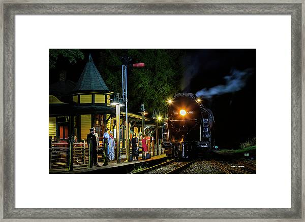 Waiting On The 611 Framed Print