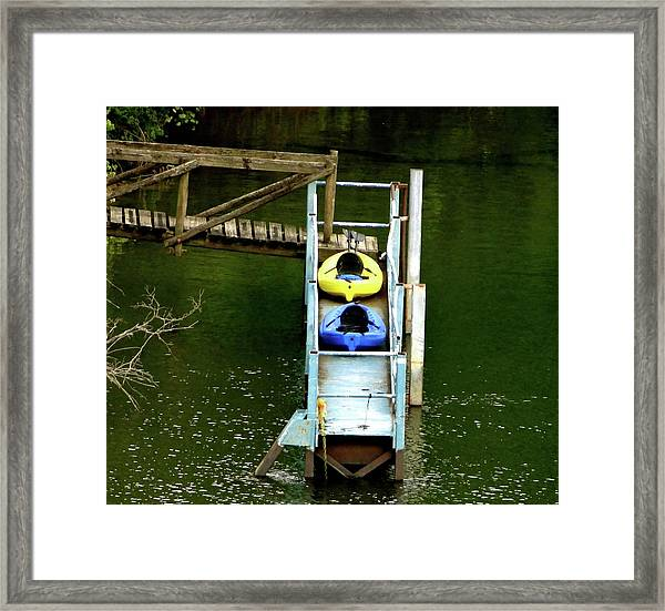 Waiting To Kayak Framed Print