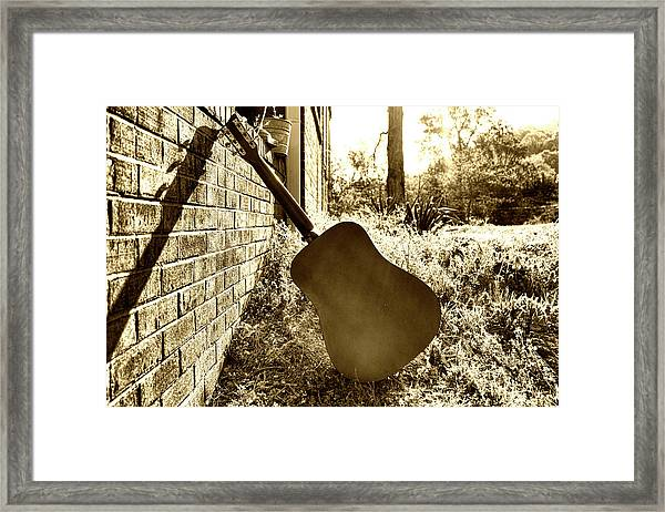 Waiting To Play Framed Print