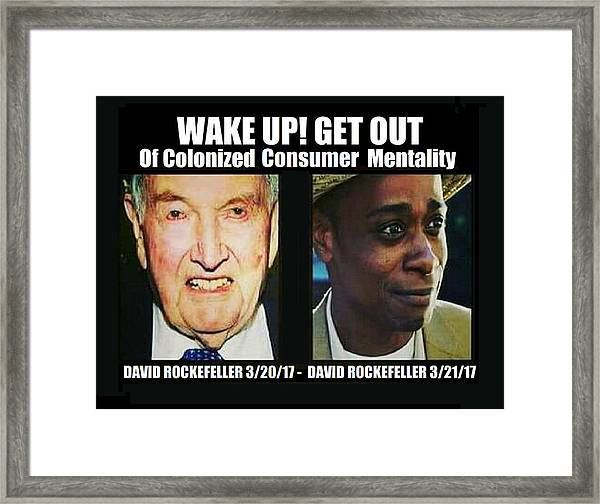 Wake Up Get Out Framed Print