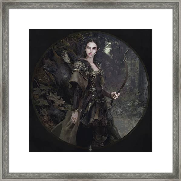 Waldelfe Framed Print