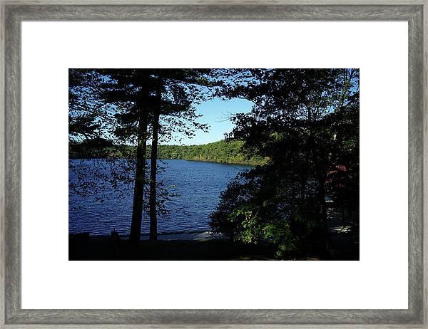 Walden Pond End Of Summer Framed Print