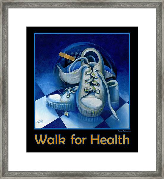 Walk For Health Poster Framed Print