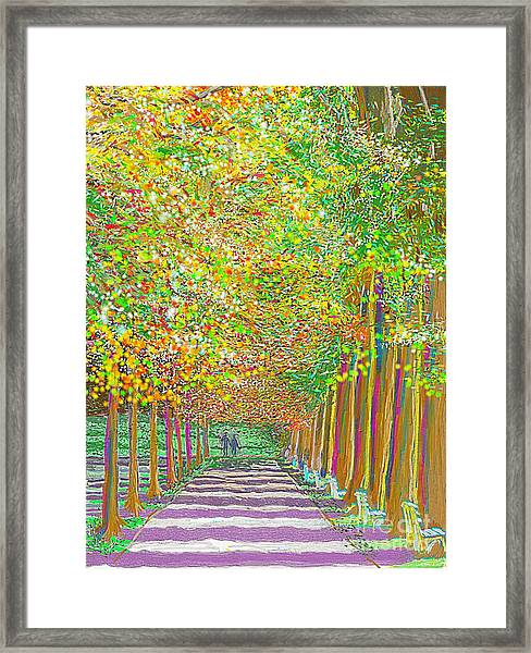 Walk In Park Cathedral Framed Print
