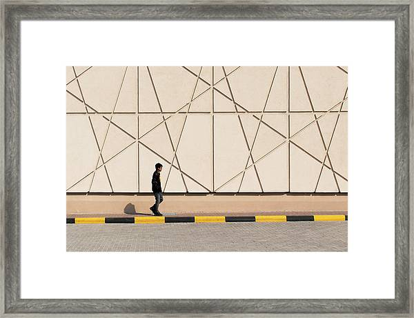 Walk The Line Framed Print