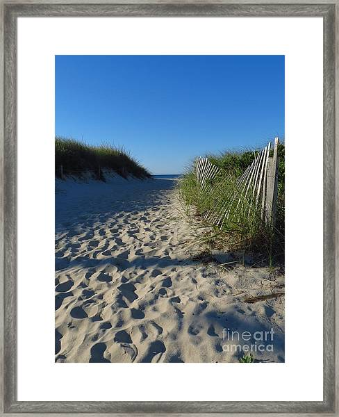 Walk To The Beach Framed Print