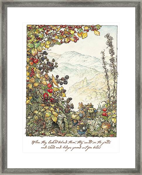 Walk To The High Hills Framed Print