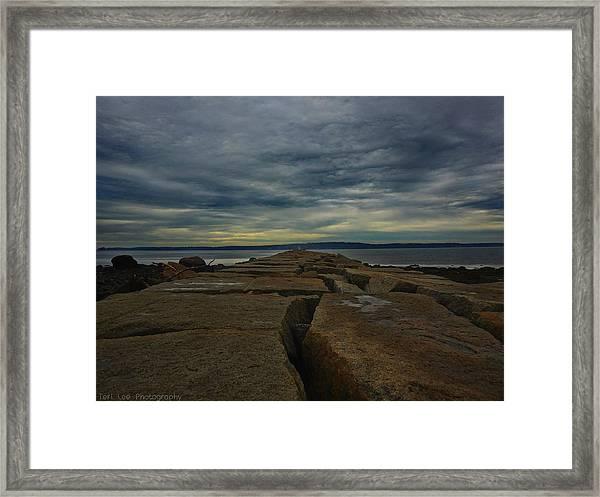 Walk To The Sea Framed Print