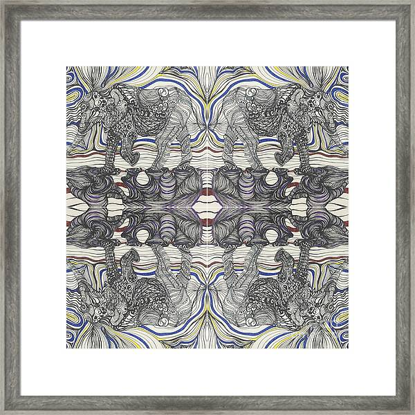 Walk With Me X 4 Framed Print