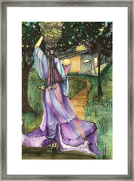 Walk With My Baby Framed Print