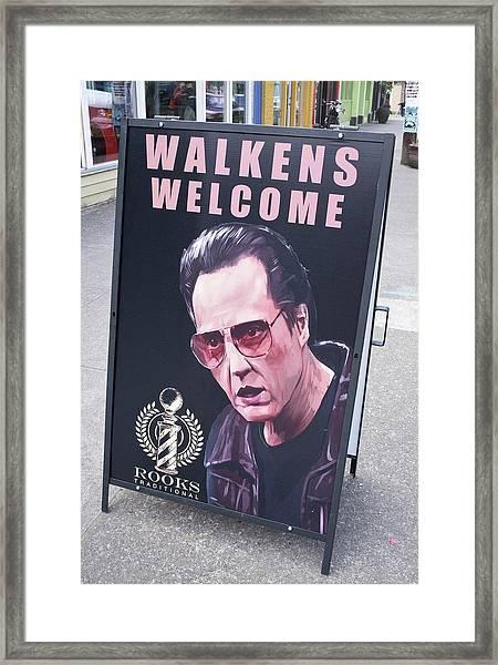 Walkens Welcome Framed Print