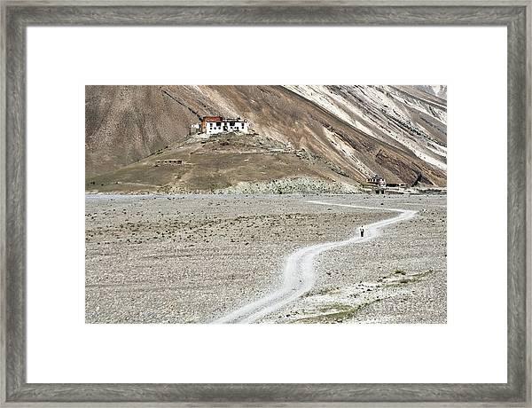 Walking Alone Framed Print