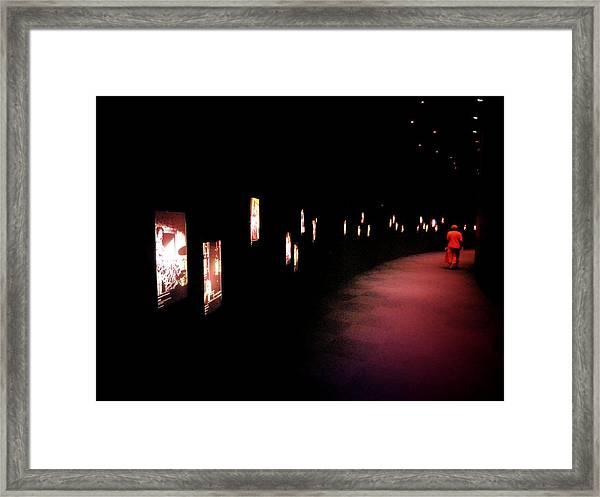 Walking Among The Stories Framed Print