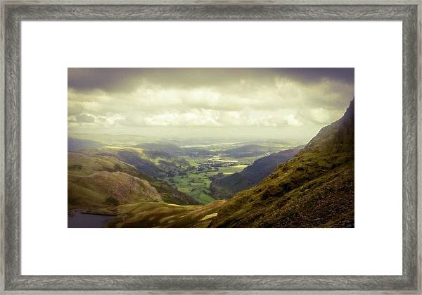 Walking In The Mountains, Lake District, Framed Print
