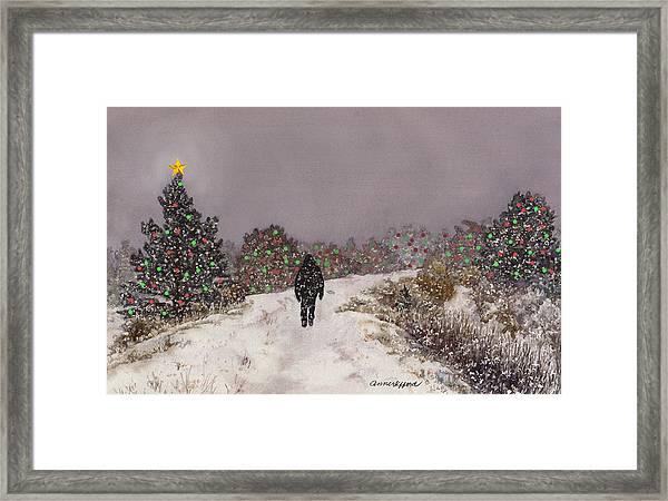 Walking Into The Light Framed Print