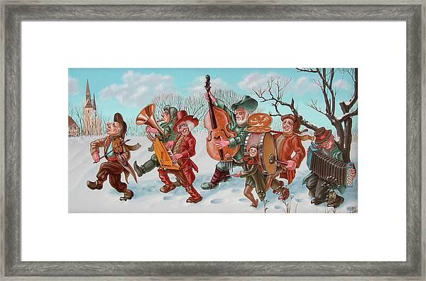 Walking Musicians Framed Print