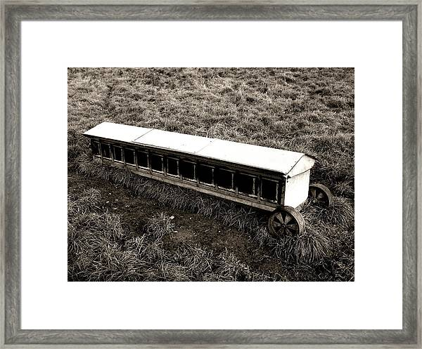 Walking On The Countryside Framed Print
