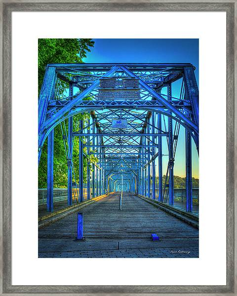 Walking Tall Walnut Street Pedestrian Bridge Art Chattanooga Tennessee Framed Print