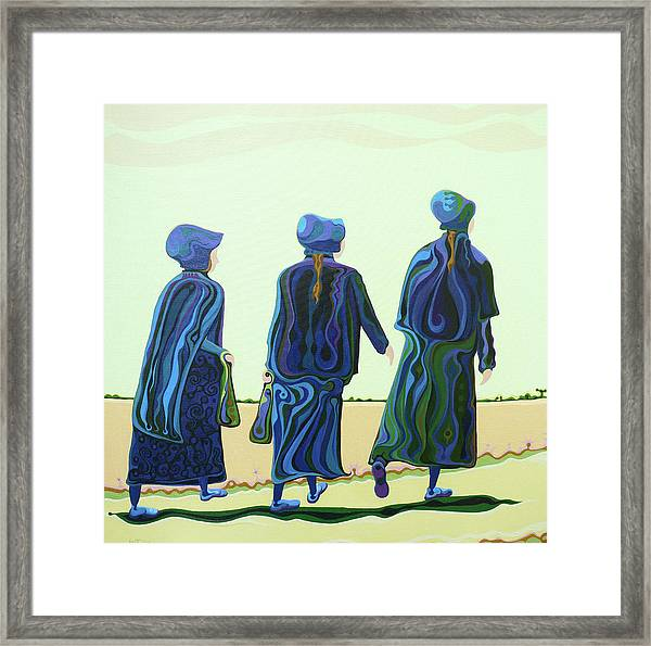 Walking The Walk Framed Print