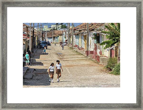 Walking To School Framed Print