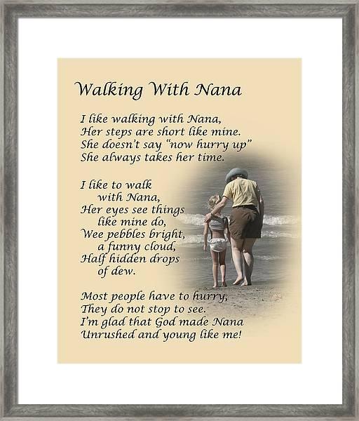 Walking With Nana Framed Print
