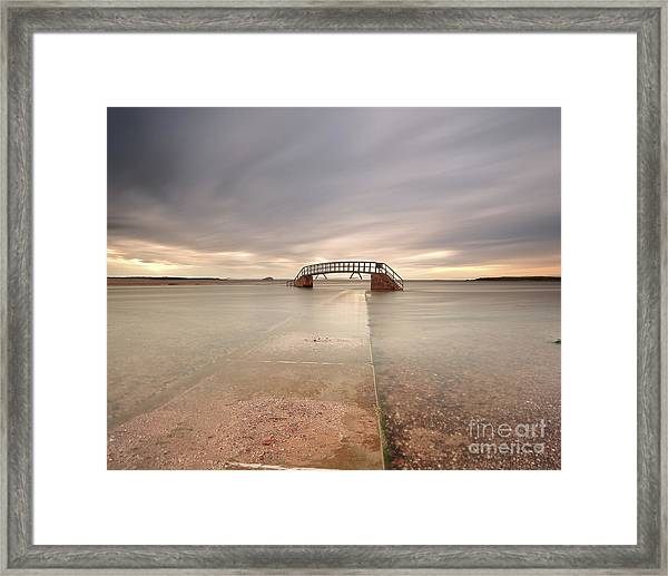 Walkway To The Stairs Framed Print