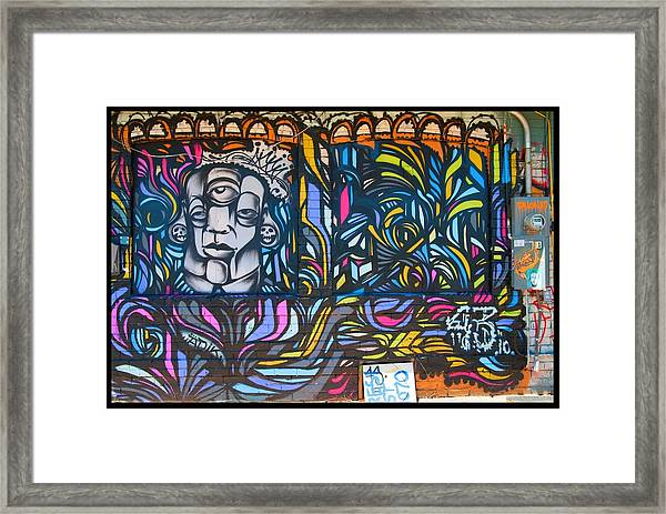 Wall And Colors Framed Print by Courtney Lively