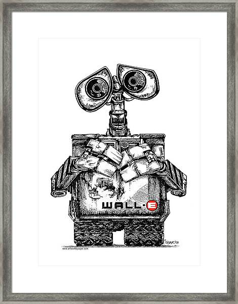 Wall-e Framed Print by James Sayer