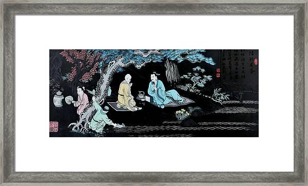 Wall Mural In Qibao - Shanghai - China Framed Print
