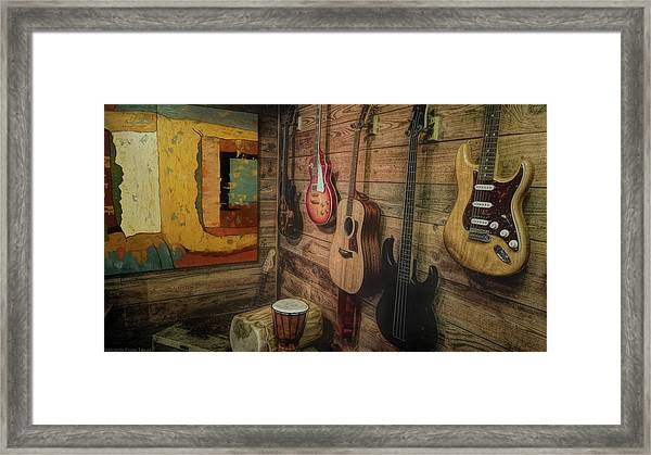 Wall Of Art And Sound Framed Print