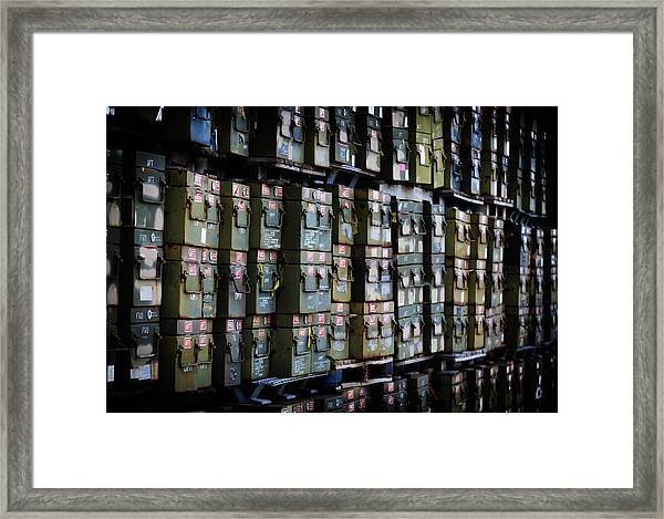 Wall Of Containment Framed Print
